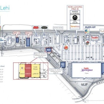 Plan of mall Center Pointe at Lehi