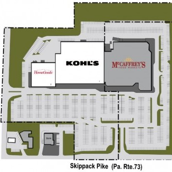 Plan of mall Center Square