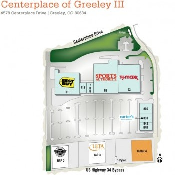 Plan of mall Centerplace Of Greeley