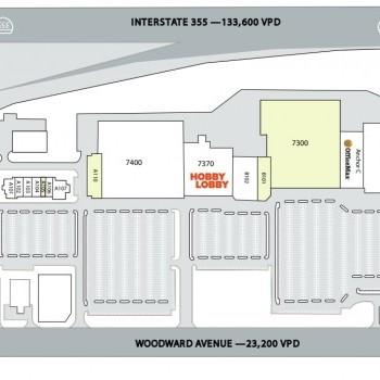 Plan of mall Centerpointe of Woodridge