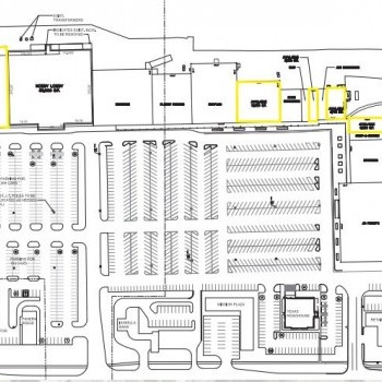 Plan of mall Central Michigan Commons