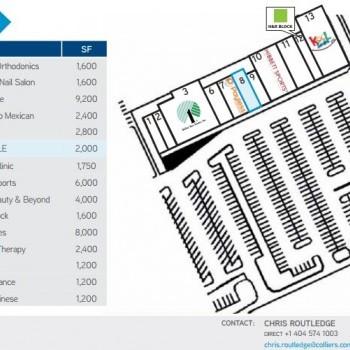 Plan of mall Centre at Lilburn