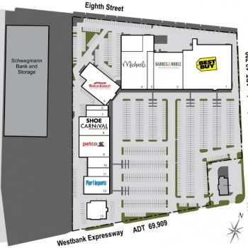Plan of mall Centre at Westbank