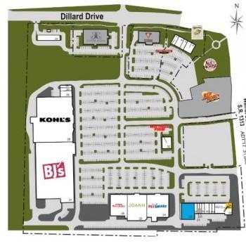 Plan of mall Centrum at Crossroads