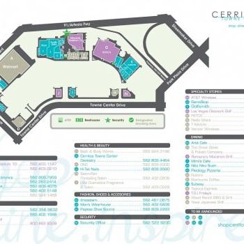 Plan of mall Cerritos Towne Center