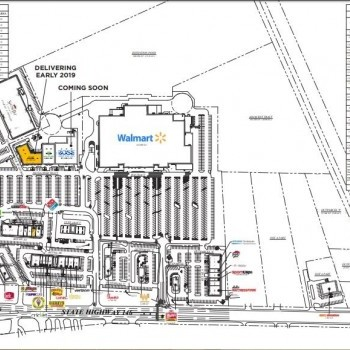 Plan of mall Chambers Town Center