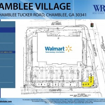 Plan of mall Chamblee Village