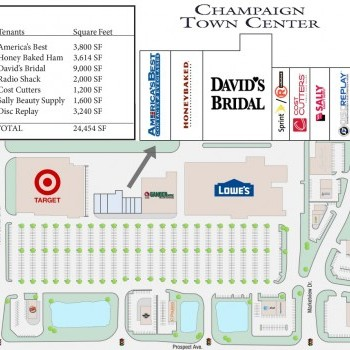 Plan of mall Champaign Town Center