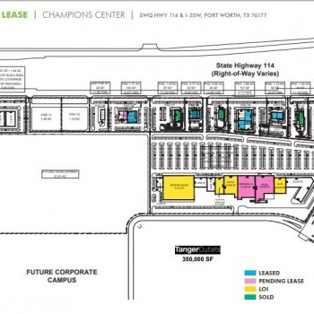 Plan of mall Champions Center