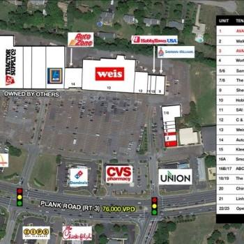Plan of mall Chancellor Center