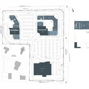 Plan of mall Chapel Hill Shopping Center