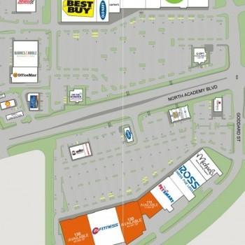Plan of mall Chapel Hills West