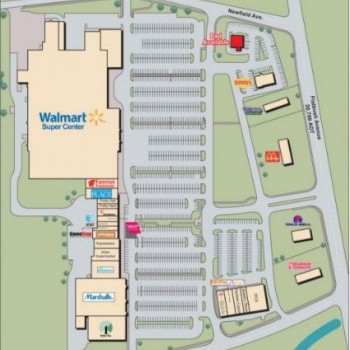 Plan of mall Charter Oak Marketplace