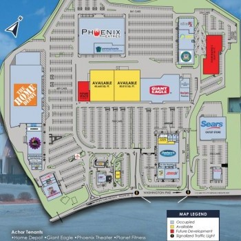 Plan of mall Chartiers Valley Shopping Center