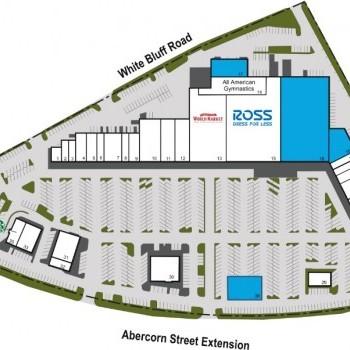 Plan of mall Chatham Plaza