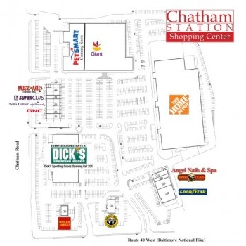 Plan of mall Chatham Station Shopping Center