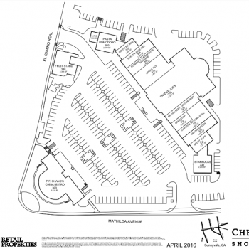 Plan of mall Cherry Orchard