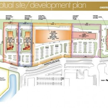 Plan of mall Chesterfield Corners