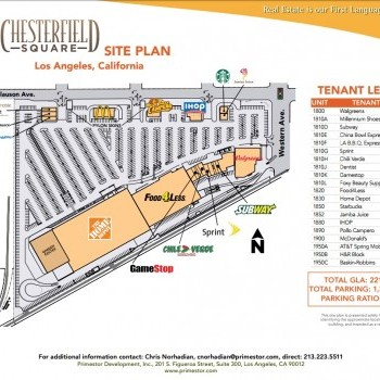 Plan of mall Chesterfield Square