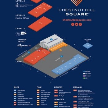 Plan of mall Chestnut Hill Square