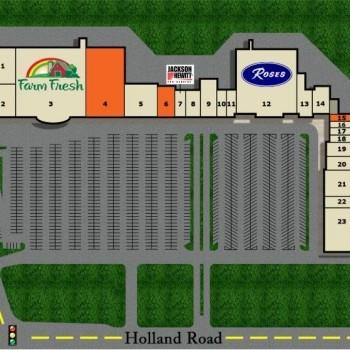Plan of mall Chimney Hill Center