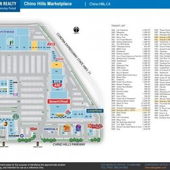 Plan of mall Chino Hills Marketplace
