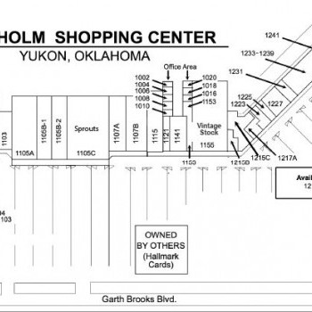 Plan of mall Chisholm Shopping Center
