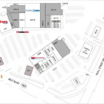 Plan of mall Circle Shopping Center