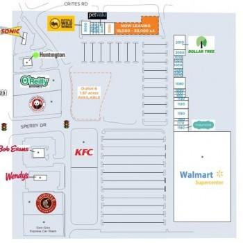 Plan of mall Circleville Plaza