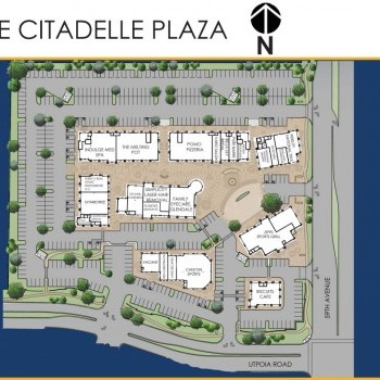 Plan of mall Citadelle Plaza