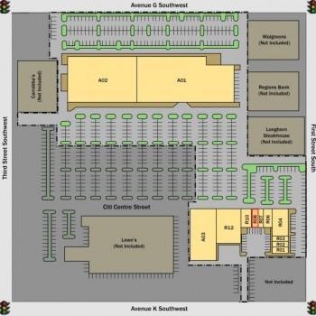 Plan of mall Citi Centre Plaza