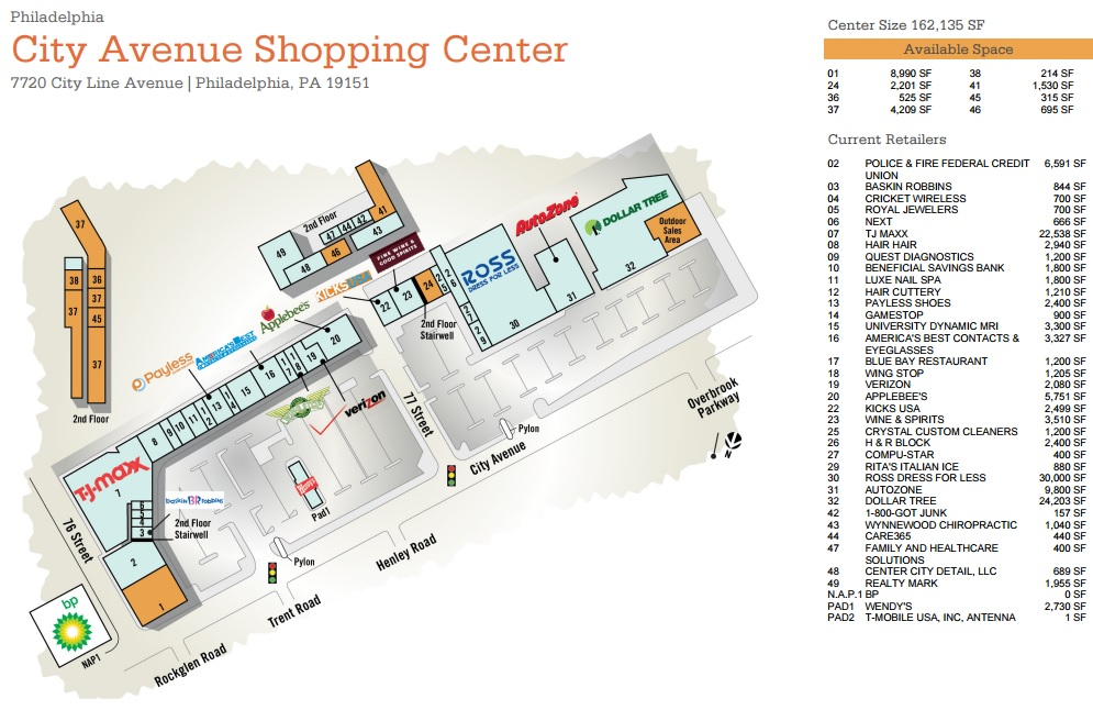 City Line Avenue >> City Avenue Shopping Center Store List Hours Location