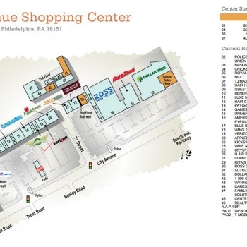 Plan of mall City Avenue Shopping Center