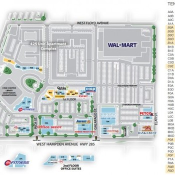 Plan of mall City Center Englewood