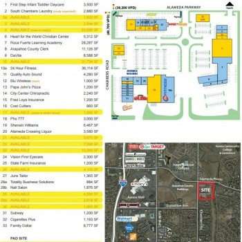 Plan of mall City Center Marketplace Shopping Center