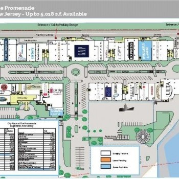 Plan of mall City Place at The Promenade