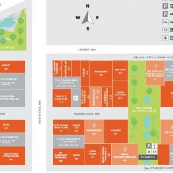 Plan of mall CityCenterDC
