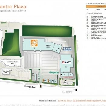Plan of mall Civic Center Plaza