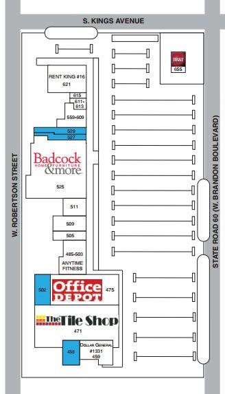 Map Of Brandon Florida.Clayton Plaza Store List Hours Location Brandon Florida