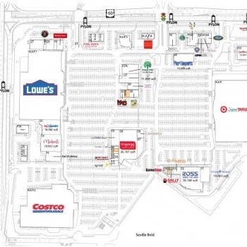 Plan of mall Clearwater Mall