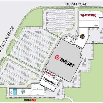 Plan of mall Clinton Pointe