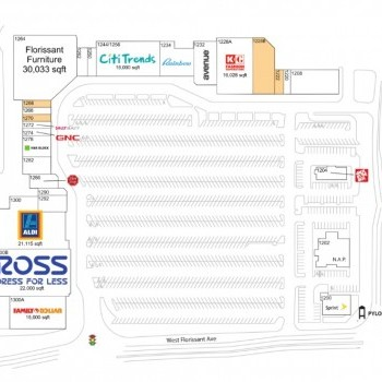 Plan of mall Clocktower Place