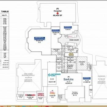 Plan of mall Cloverleaf Center