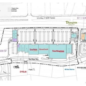Plan of mall Coastal North Town Center
