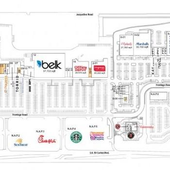 Plan of mall Coastal Way - Coastal Landing
