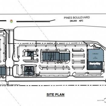 Plan of mall Cobblestone Plaza
