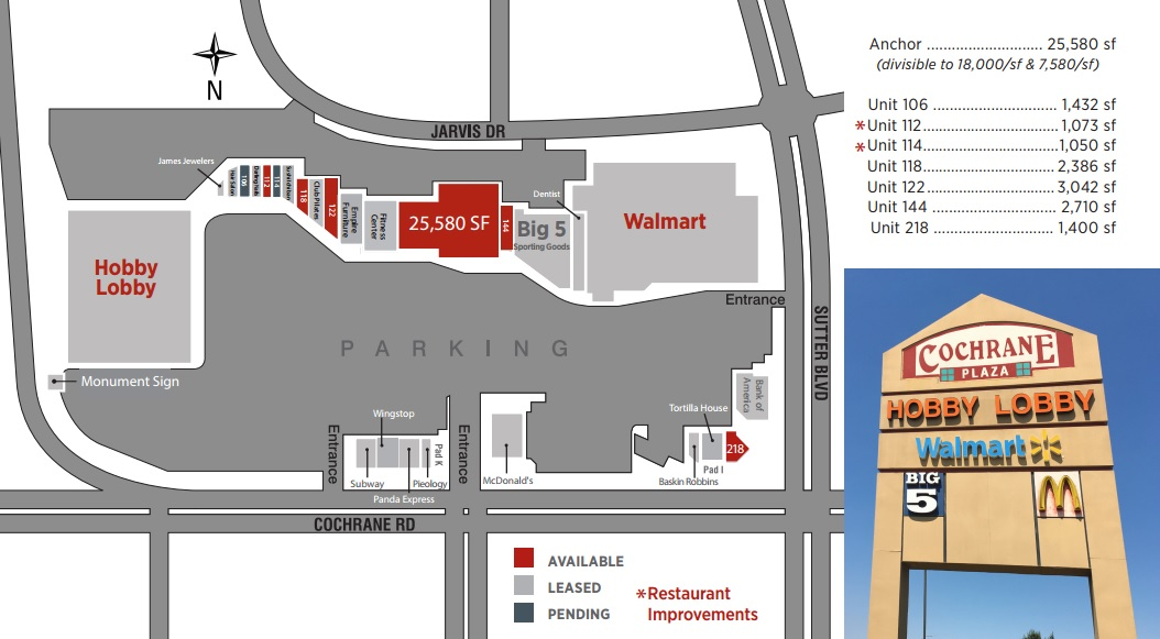 Cochrane Plaza Store List Hours Location Morgan Hill