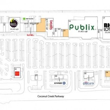 Plan of mall Coconut Creek Plaza