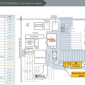 Plan of mall Coldwater Crossing