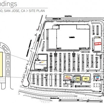 Plan of mall Coleman Landings
